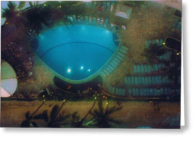 I Want To Believe Greeting Cards - View from  the Eleventh Floor Balcony at the Waikiki Hotel Greeting Card by Anne-Elizabeth Whiteway