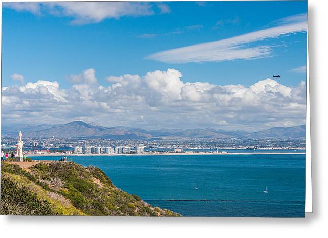 Point Loma Greeting Cards - View From The Point Greeting Card by Duane Miller