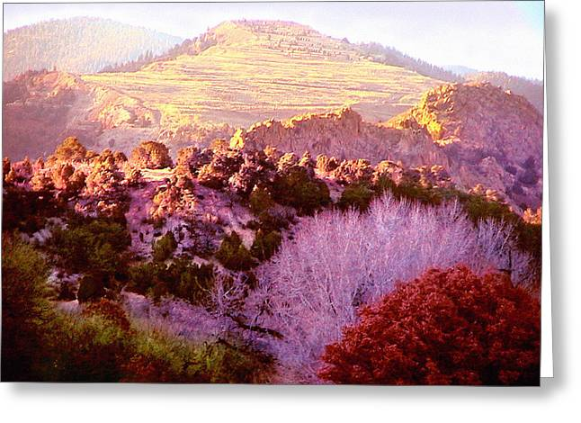 Ledge Greeting Cards - View from the Ranch Greeting Card by Cristophers Dream Artistry