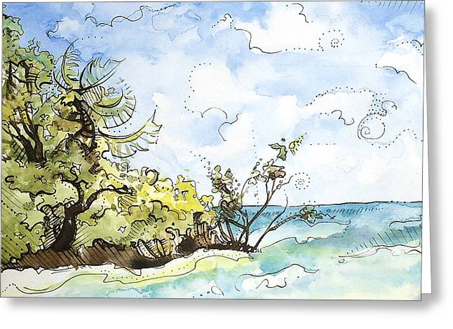 View From The Split Greeting Card by Kelly Johnson