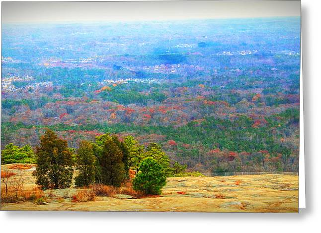 View From The Top Of Stone Mountain Greeting Card by Dan Sproul