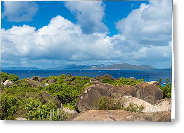 View From Top Of The Baths On Virgin Greeting Card by Panoramic Images