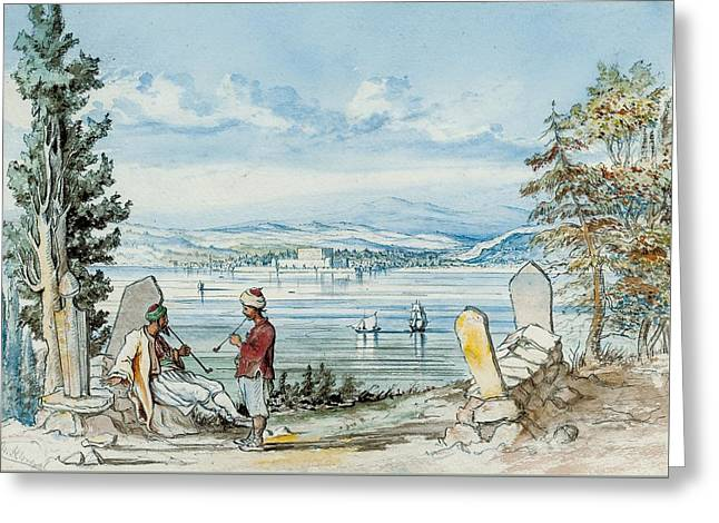 View In The Dardanells Greeting Card by WH Wrench