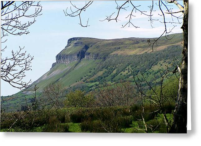 Yeats Greeting Cards - View of Benbulben from Glencar Lake Ireland Greeting Card by Teresa Mucha
