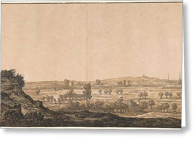Cleves Greeting Cards - View of Calcar on the Lower Rhine near Cleves Greeting Card by Aelbert Cuyp
