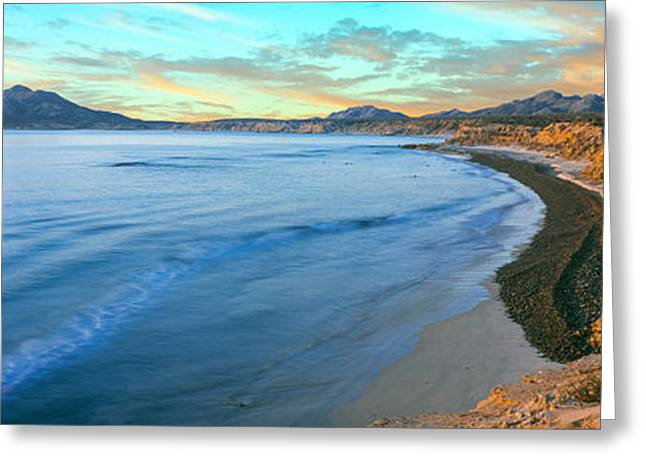 Baja California Greeting Cards - View Of Coastline, Cabo Pulmo National Greeting Card by Panoramic Images