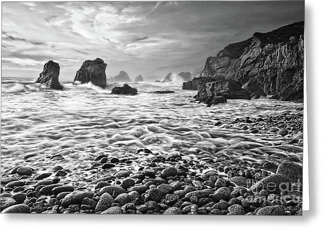 View Of Crashing Waves From Soberanes Point In Garrapata State P Greeting Card by Jamie Pham