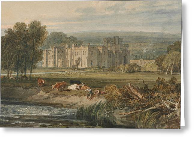 View Of Hampton Court, Herefordshire From The Southeast Greeting Card by Joseph Mallord William Turner