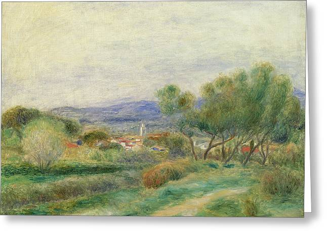 Provence Village Greeting Cards - View of La Seyne Greeting Card by Pierre Auguste Renoir