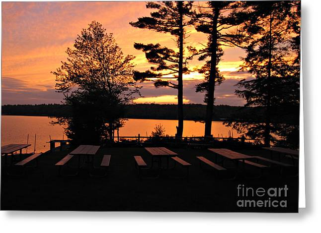 View Of Lake Naomi Greeting Card by Addie Hocynec