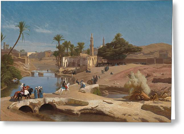 View Of Medinet El - Fayoum Greeting Card by Mountain Dreams