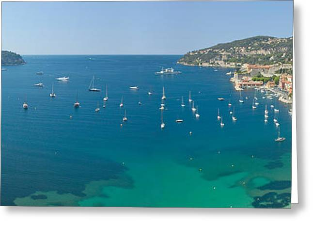 Gallic Greeting Cards - View Of Mediteranean Overlooking French Greeting Card by Panoramic Images