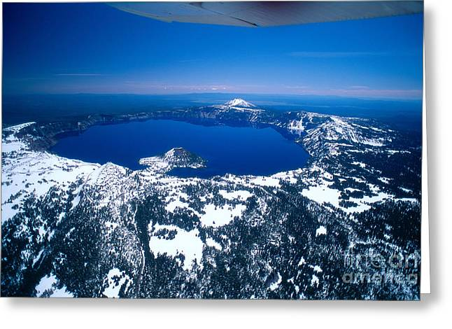 Glassy Lake Surface Greeting Cards - View Of Oregon Greeting Card by Allan Seiden - Printscapes