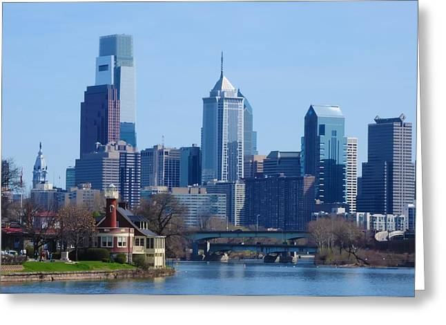 Center City Greeting Cards - View of Phliadelphia from West River Drive. Greeting Card by Bill Cannon
