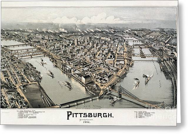 View Of Pittsburgh, 1902 Greeting Card by Granger