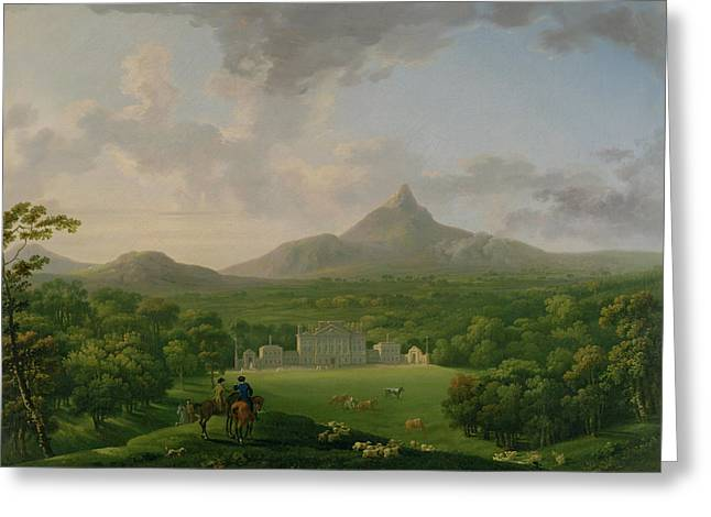 Elder Greeting Cards - View of Powerscourt - County Wicklow Greeting Card by George the Elder Barret