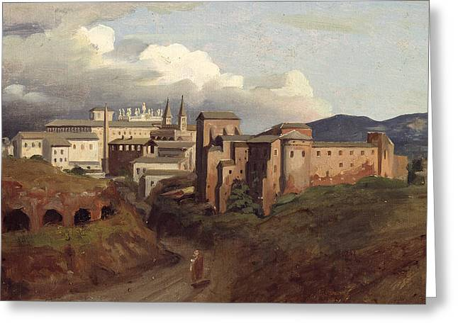 Best Sellers -  - Saint Joseph Greeting Cards - View of Saint John Lateran Rome Greeting Card by Joseph Desire Court
