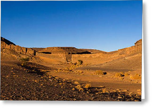View Of Sand Dunes, Sahara Desert Greeting Card by Panoramic Images