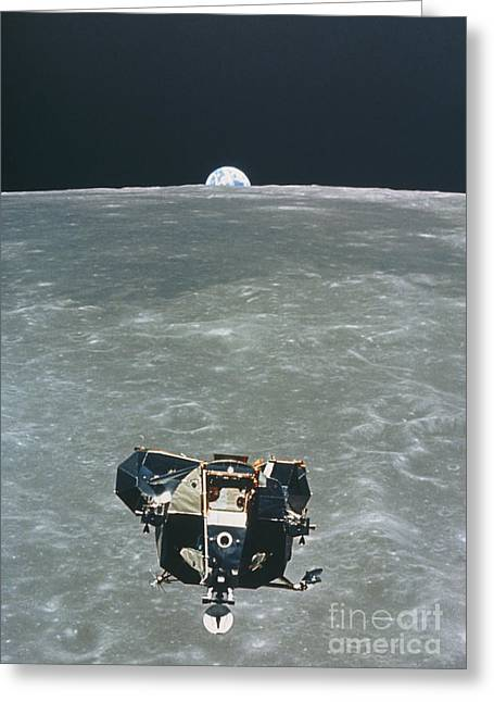 Apollo Greeting Cards - View Of The Apollo 11 Lunar Module Greeting Card by NASA / Science Source