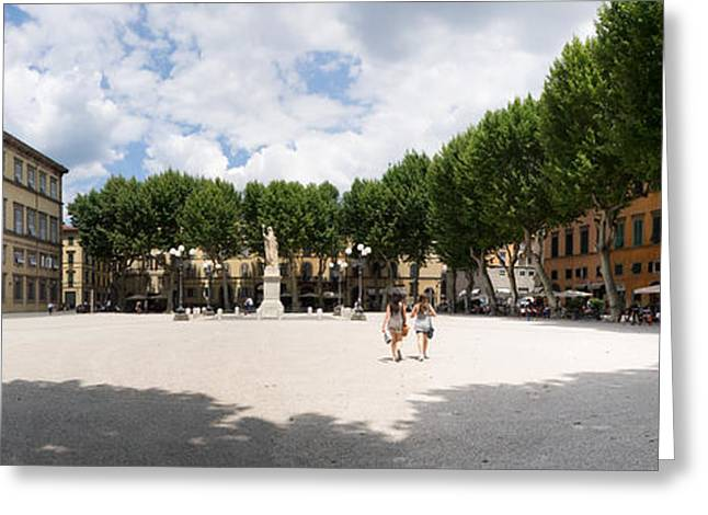 View Of The Ducal Palace, Piazza Greeting Card by Panoramic Images
