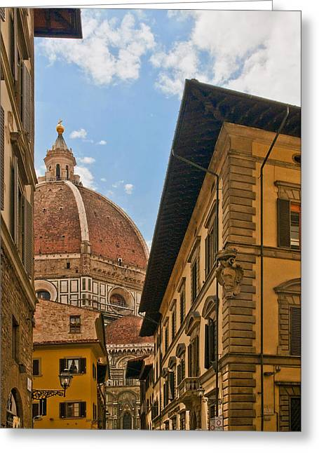 Florence Greeting Cards - View of the Duomo Greeting Card by Mick Burkey