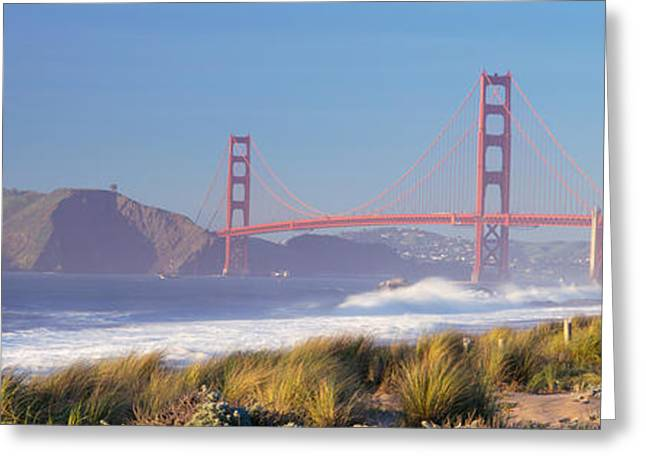 Golden Gate National Recreation Area Greeting Cards - View Of The Golden Gate Bridge, San Greeting Card by Panoramic Images