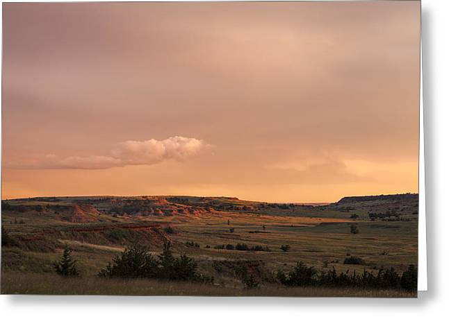 Mystical Landscape Greeting Cards - View of the Gyp Hills Greeting Card by Scott Bean