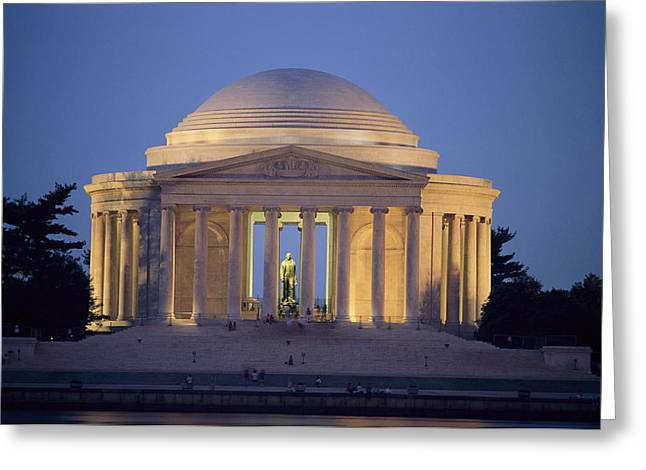 Art Of Building Greeting Cards - View Of The Jefferson Memorial Greeting Card by Richard Nowitz