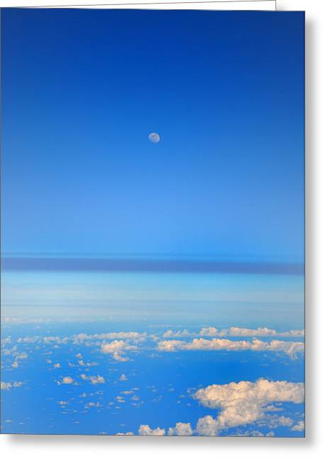 Stratosphere Greeting Cards - View of the Moon from the Stratosphere Greeting Card by Bill Cannon