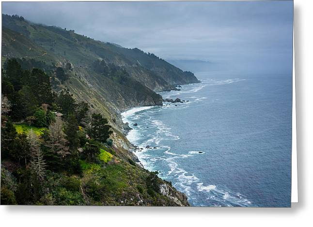 Big Sur Beach Greeting Cards - View of the Pacific Coast in Big Sur California Greeting Card by Jon Bilous