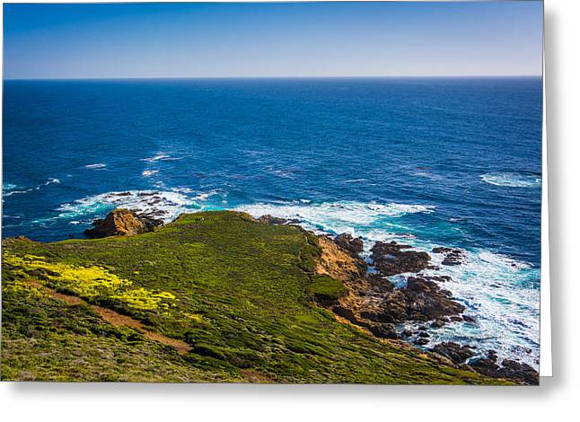 Big Sur Greeting Cards - View of the Pacific Ocean at Garrapata State Park California Greeting Card by Jon Bilous