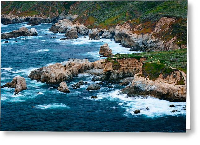 Big Sur Greeting Cards - View of the rocky Pacific Coast at Garrapata State Park California Greeting Card by Jon Bilous