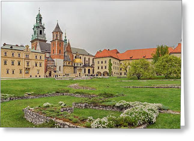 View Of The Wawel Castle With The Wawel Greeting Card by Panoramic Images