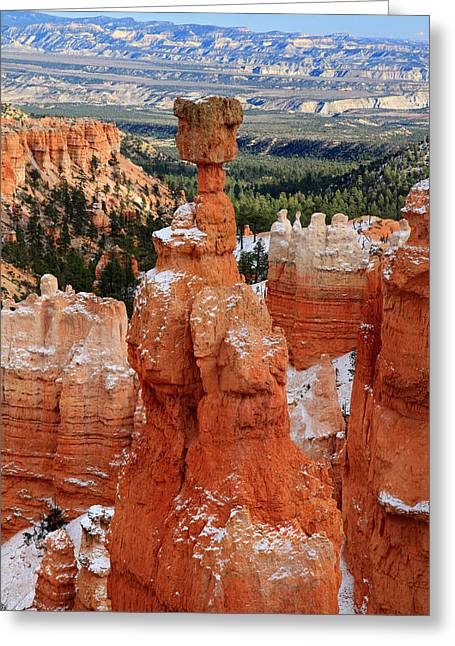 Thor Greeting Cards - View of Thors hammer in Bryce Canyon Greeting Card by Pierre Leclerc Photography