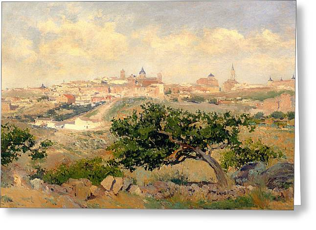 Stonewall Greeting Cards - View Of Toledo Greeting Card by Aureliano De Beruete