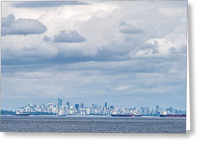 View Pyrography Greeting Cards - View of Vancouver 1 Greeting Card by Olga Photography