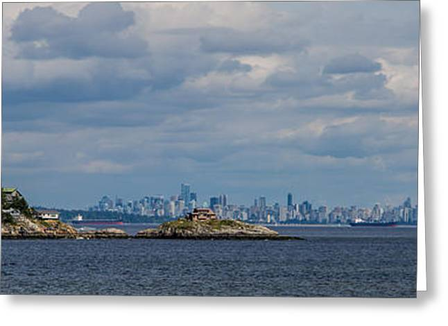 Vancouver Pyrography Greeting Cards - View of Vancouver 3 Greeting Card by Olga Photography