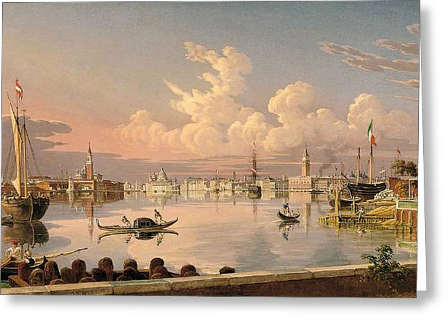 View Of Venice Greeting Card by Robert Salmon
