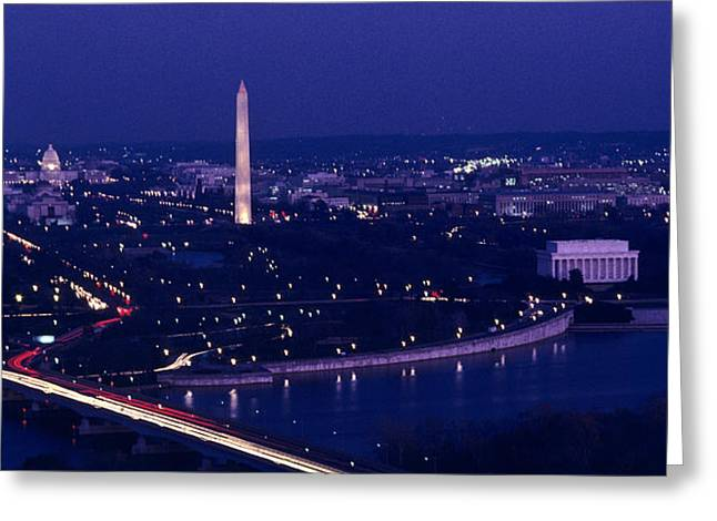 View Of Washington D.c. At Night Greeting Card by Kenneth Garrett