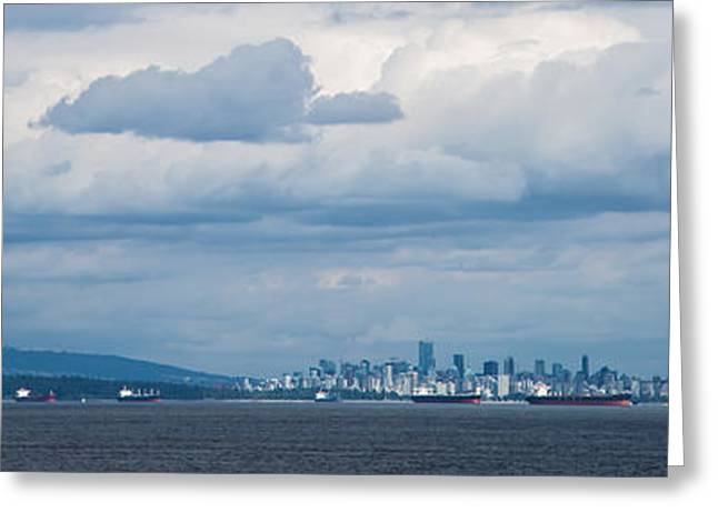 Vancouver Pyrography Greeting Cards - View of Vancouver  Greeting Card by Olga Photography
