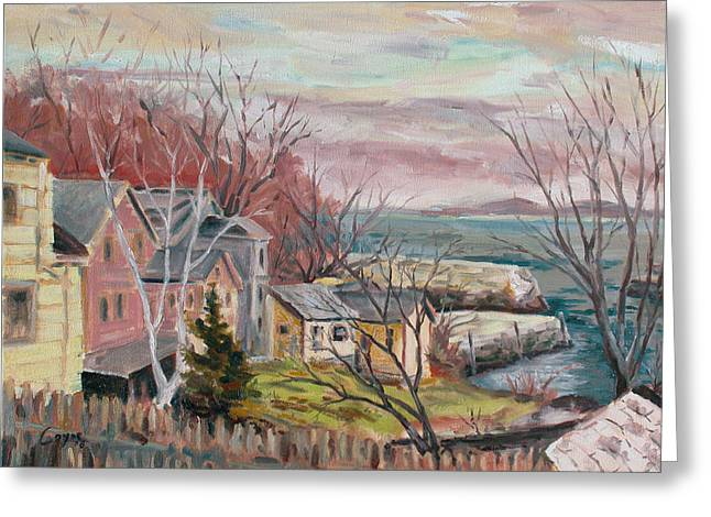 Ann Paintings Greeting Cards - View to Lanes Cove Greeting Card by Chris Coyne