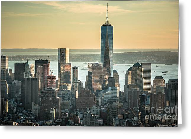 Occasion Greeting Cards - View to the New World Trade Center NYC Greeting Card by  ILONA ANITA TIGGES - GOETZE  ART and Photography