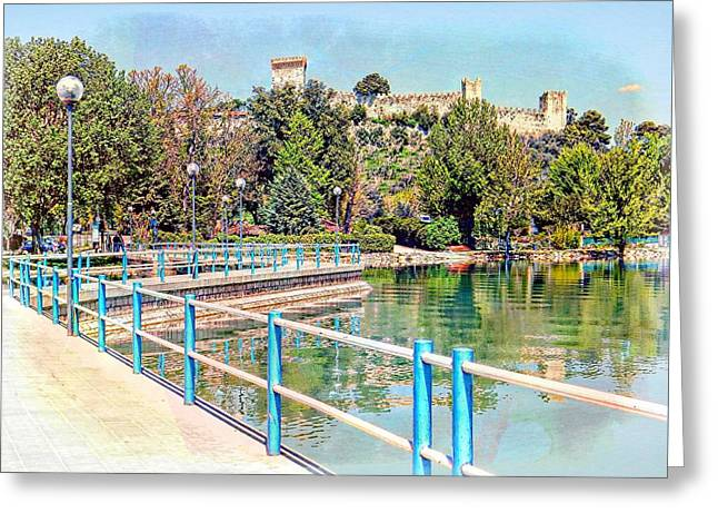 View To The Rocca Greeting Card by Dorothy Berry-Lound