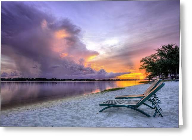 Florida Panhandle Sunset Greeting Cards - View to the Show Greeting Card by JC Findley