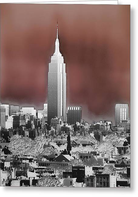 Large Scale Greeting Cards - View Toward New York City Greeting Card by Kellice Swaggerty