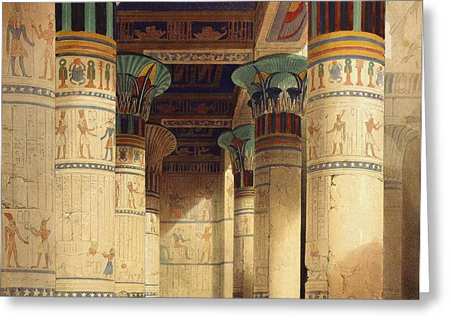 View under the Grand Portico Greeting Card by David Roberts