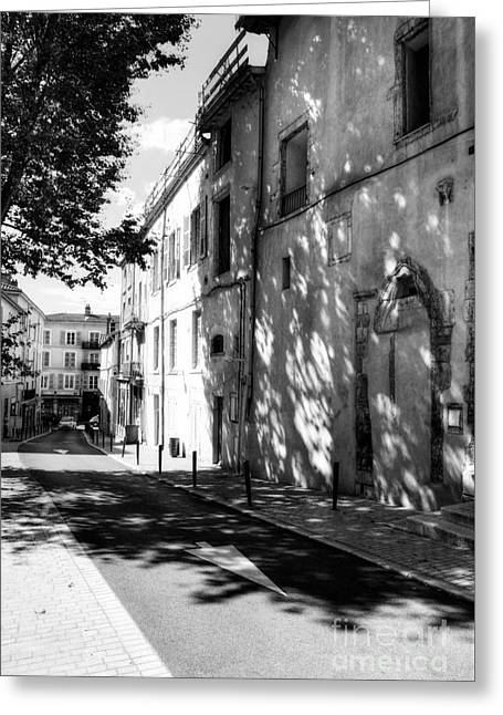 Southern France Greeting Cards - Views Of Vienne France 2 BW Greeting Card by Mel Steinhauer
