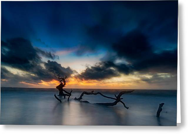 Ocean Shore Greeting Cards - Viking Dawn Greeting Card by Chris Bordeleau