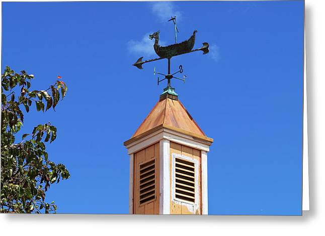 Viking Wind Vane Greeting Card by Art Block Collections