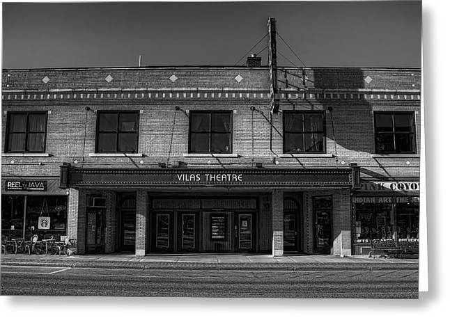 Outdoor Theater Greeting Cards - Vilas Theatre Greeting Card by Dale Kauzlaric